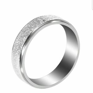 Womans Stainless Steel Silver Ring